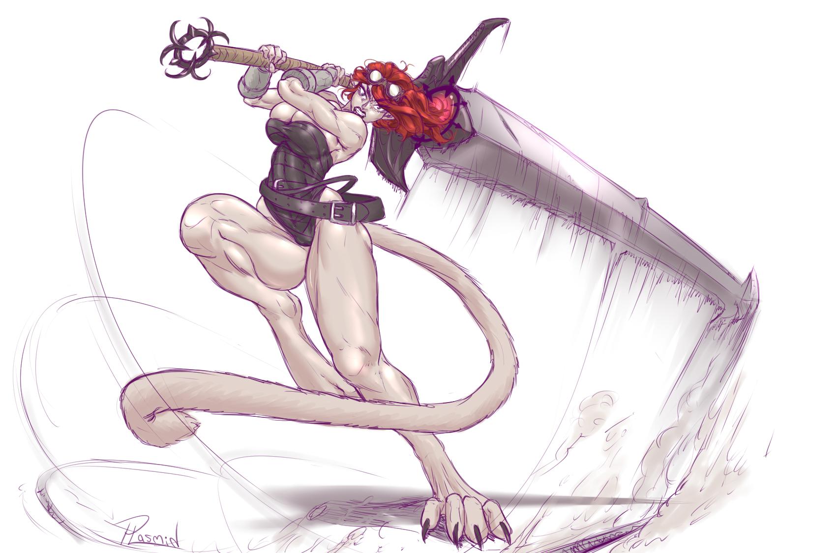 Raven Beartrap smash commission
