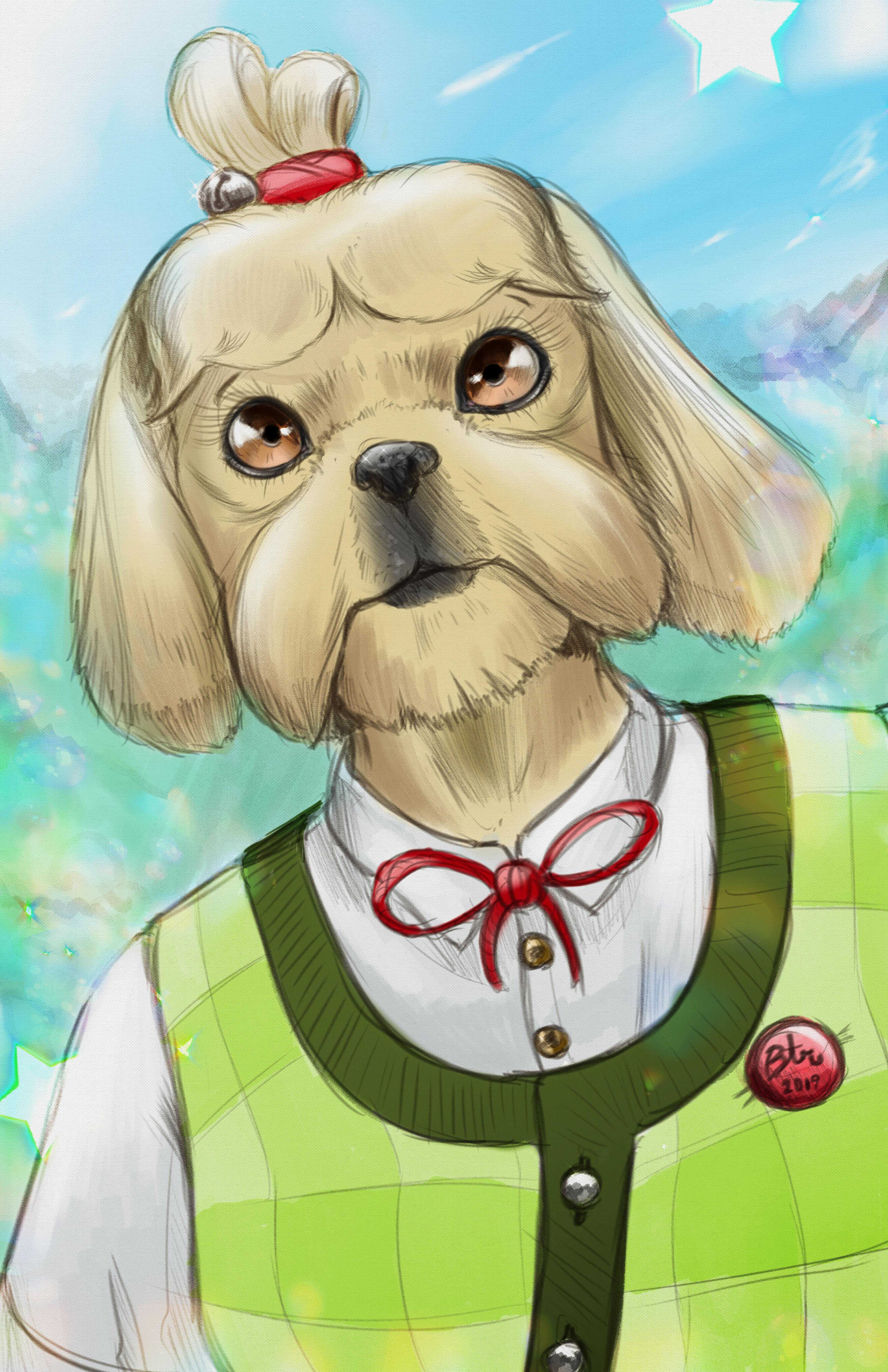 Isabelle 2019 Animal Crossing Fan Art By Benjaminratterman