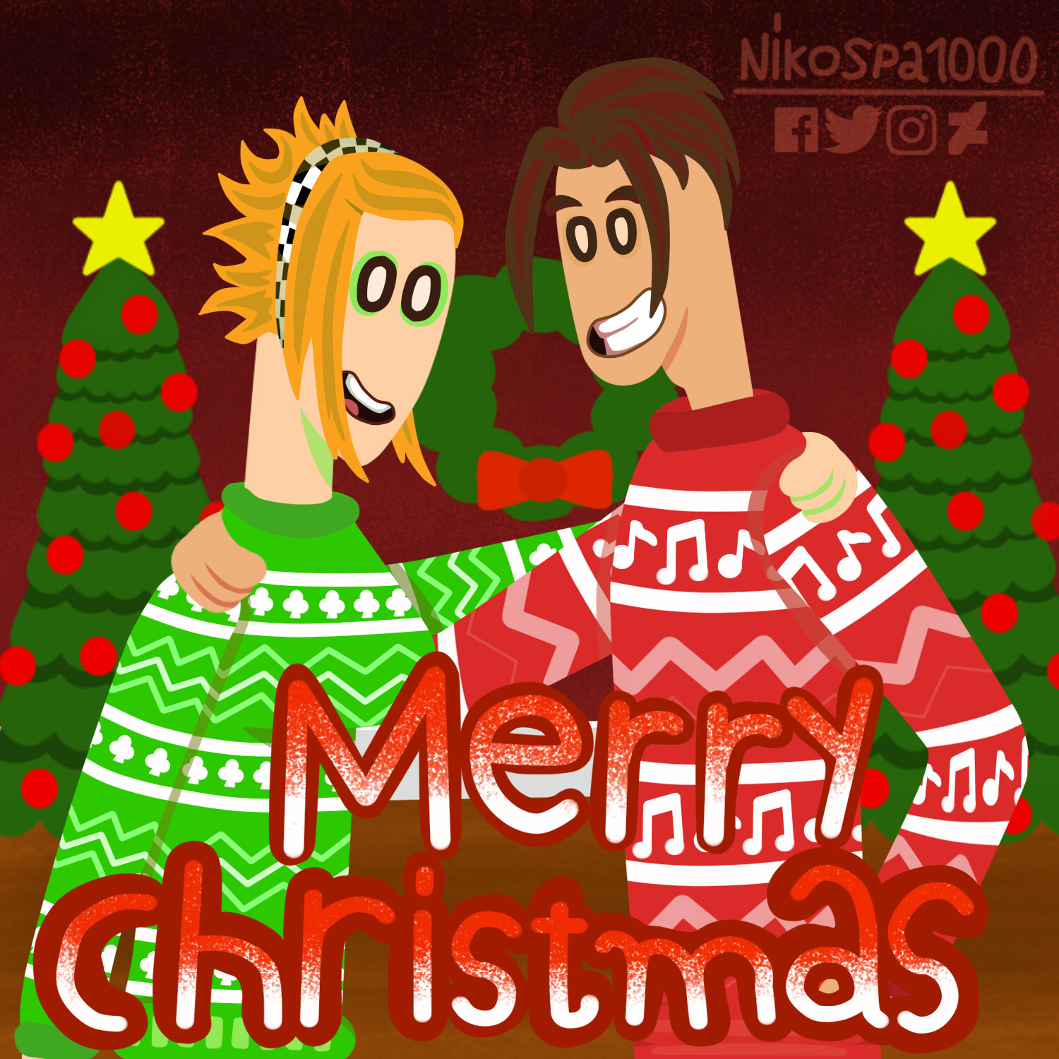 Carlo Romano and Clover to Merry Christmas 2019