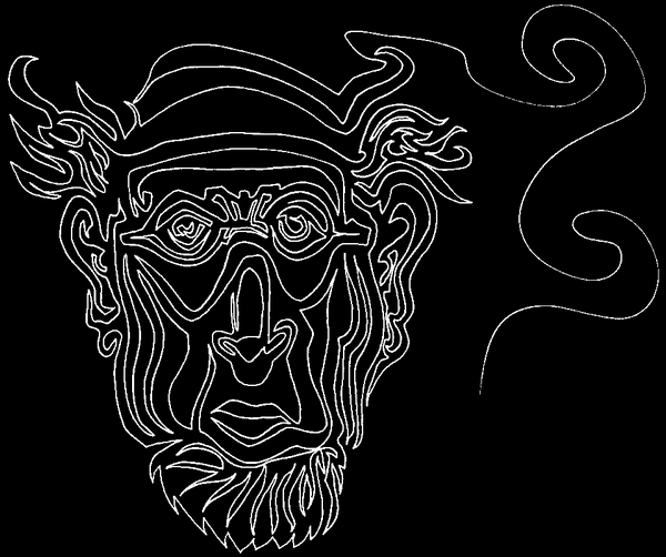 one line face
