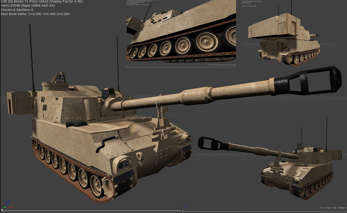 M109A6 Paladin UE3 Model