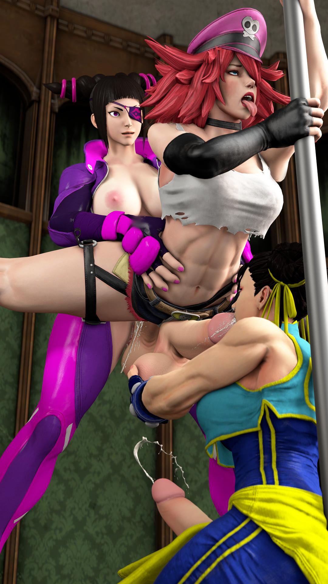 Poison double team'd [futa]