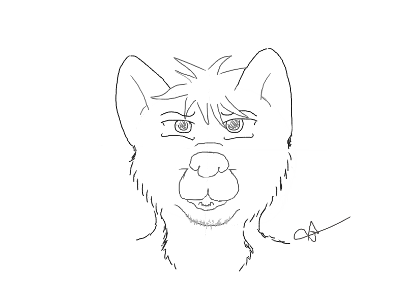 My first try to draw a furry