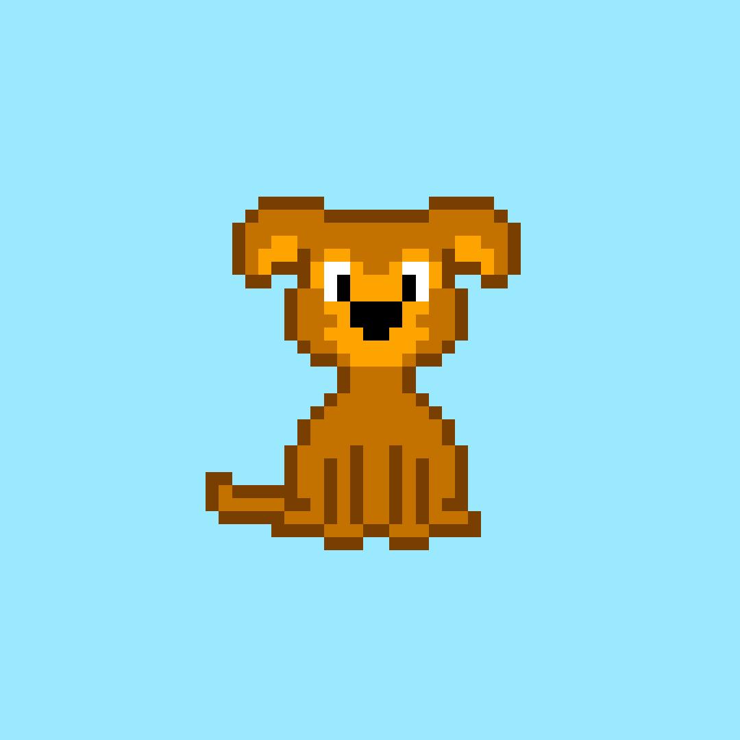 My dog Bibi, pixelated