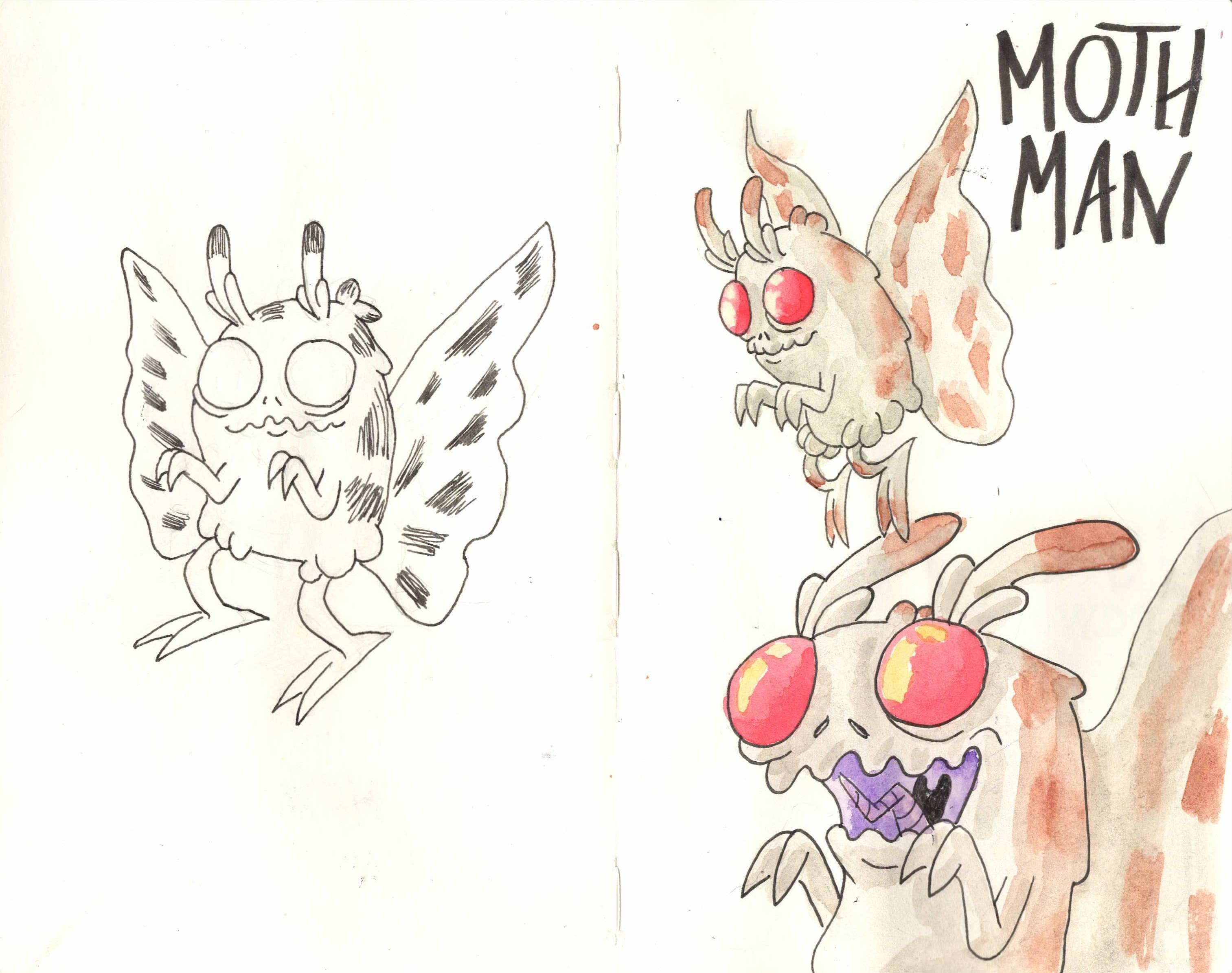 Mothman sketchs