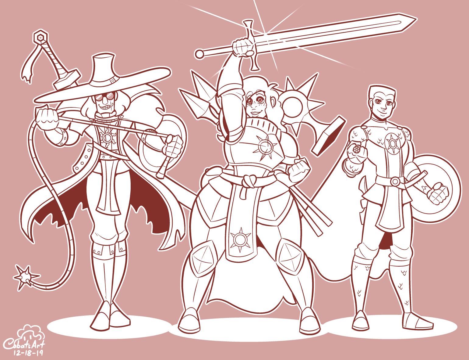 Commission: D&D Crusader Party