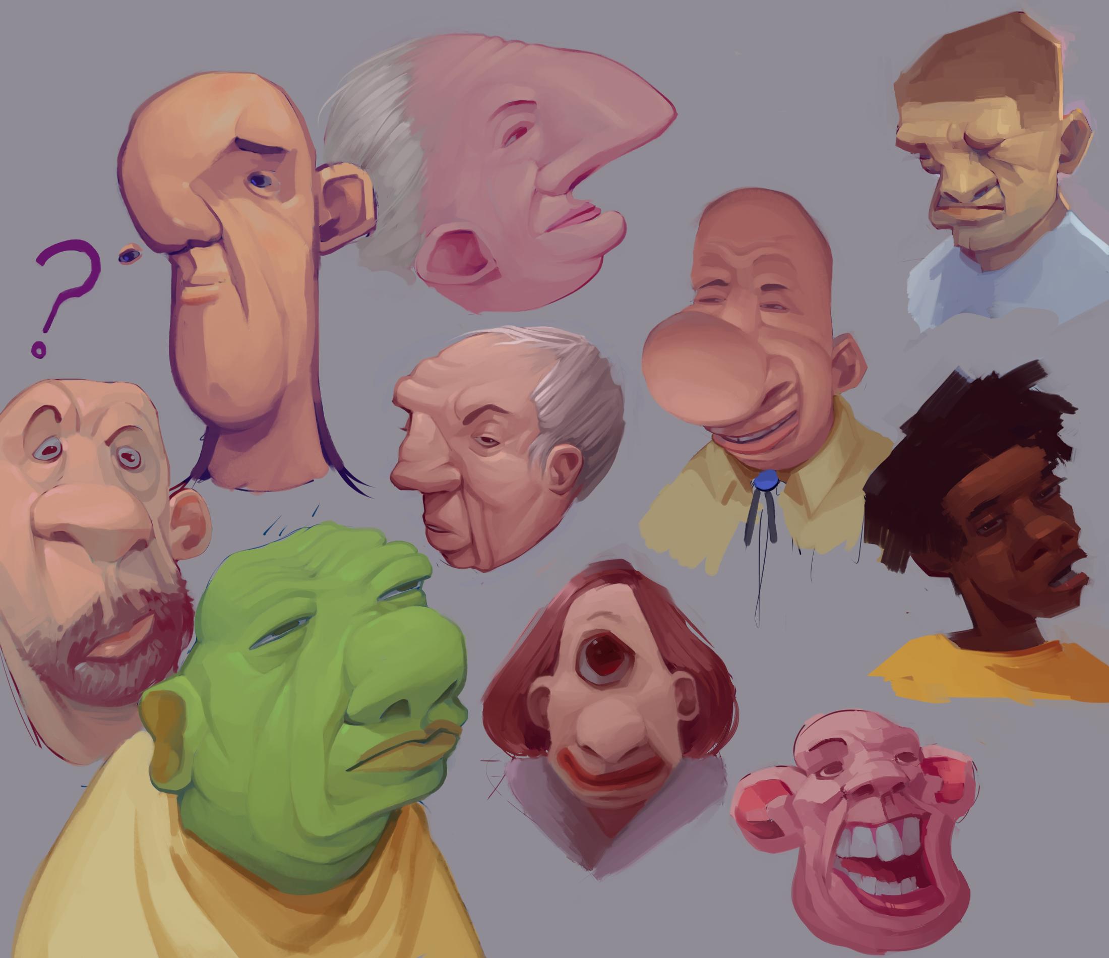 buncha faces