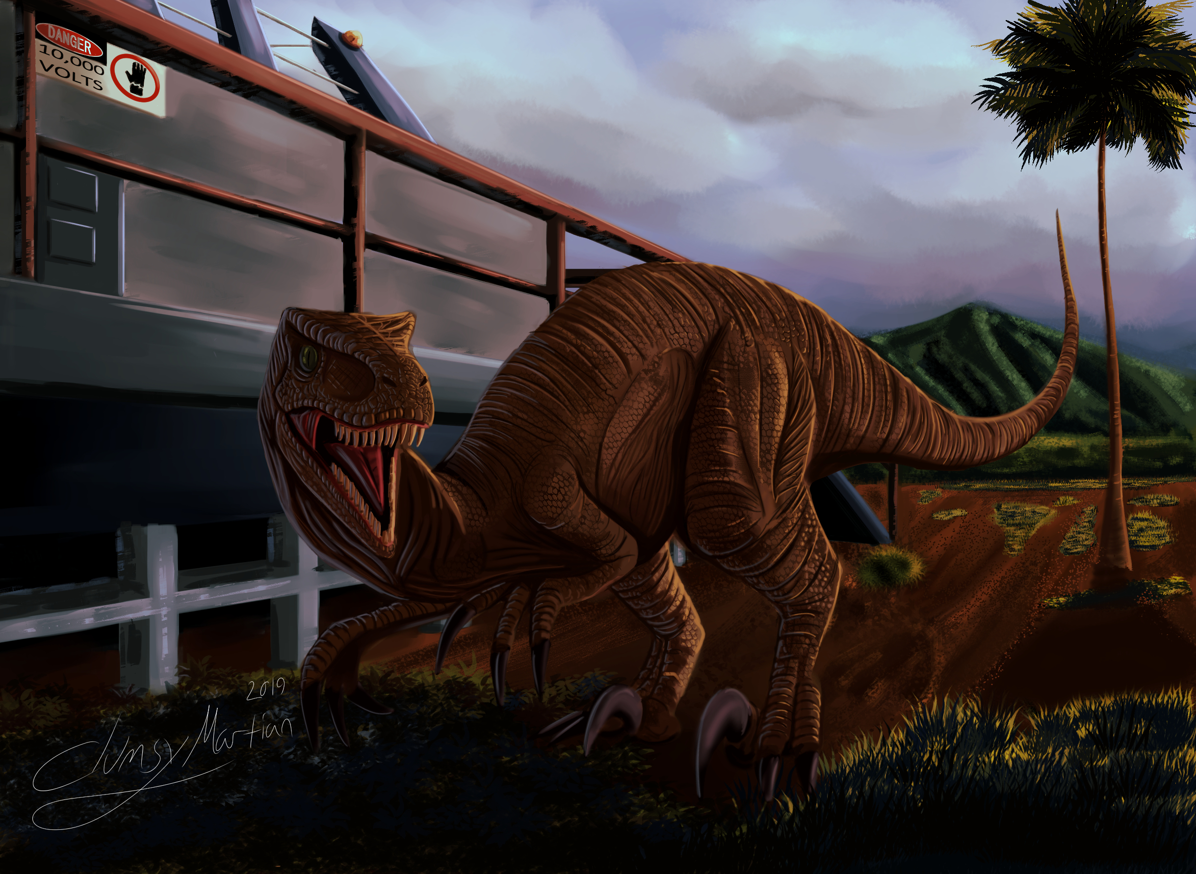 Velociraptor from Jurassic Park
