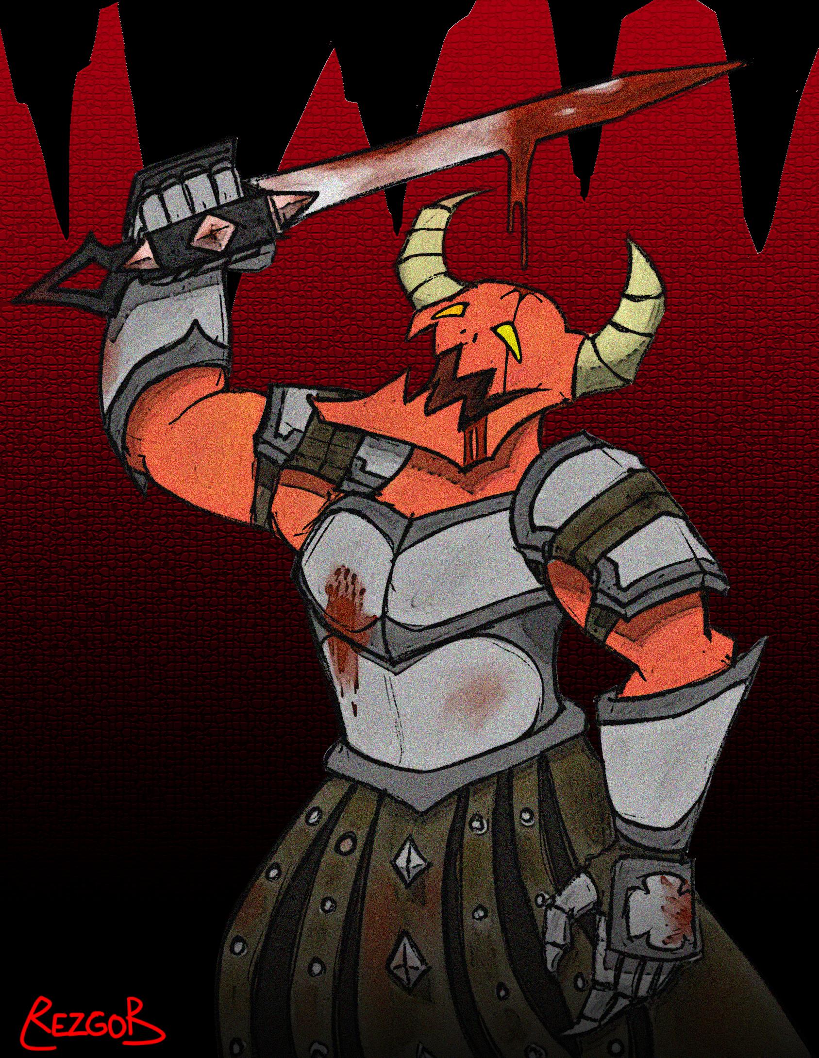 Sword-Wielding Demon