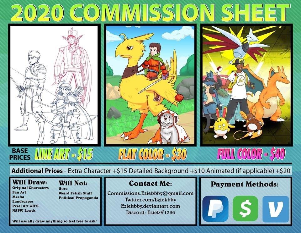 2020 Commissions Sheet