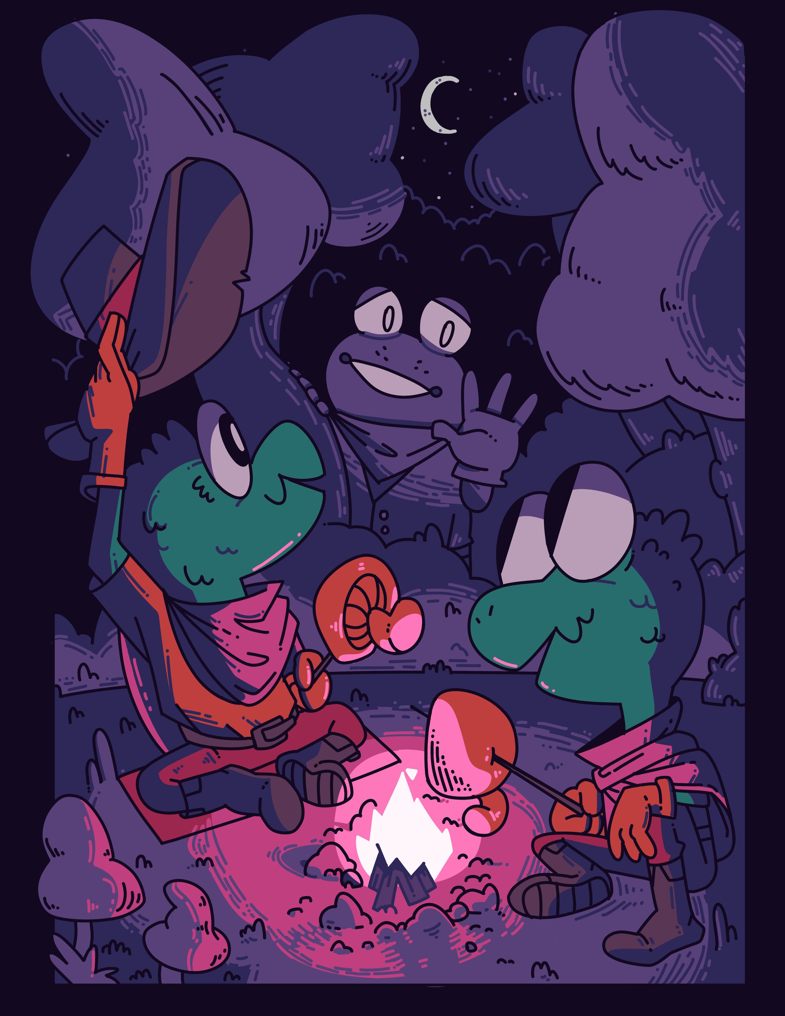 Mushroom Campfire