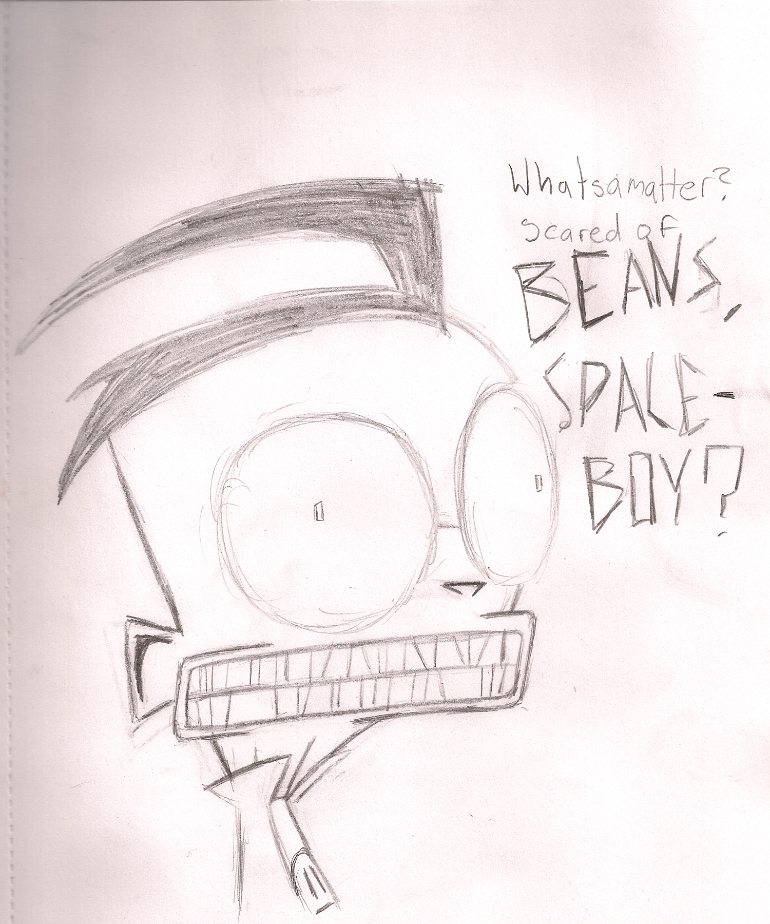 SCARED OF BEANS SPACEBOY!?