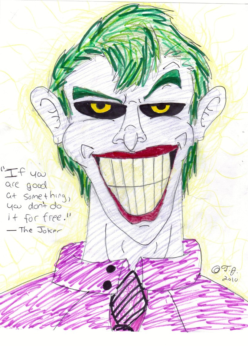 The Joker simple style