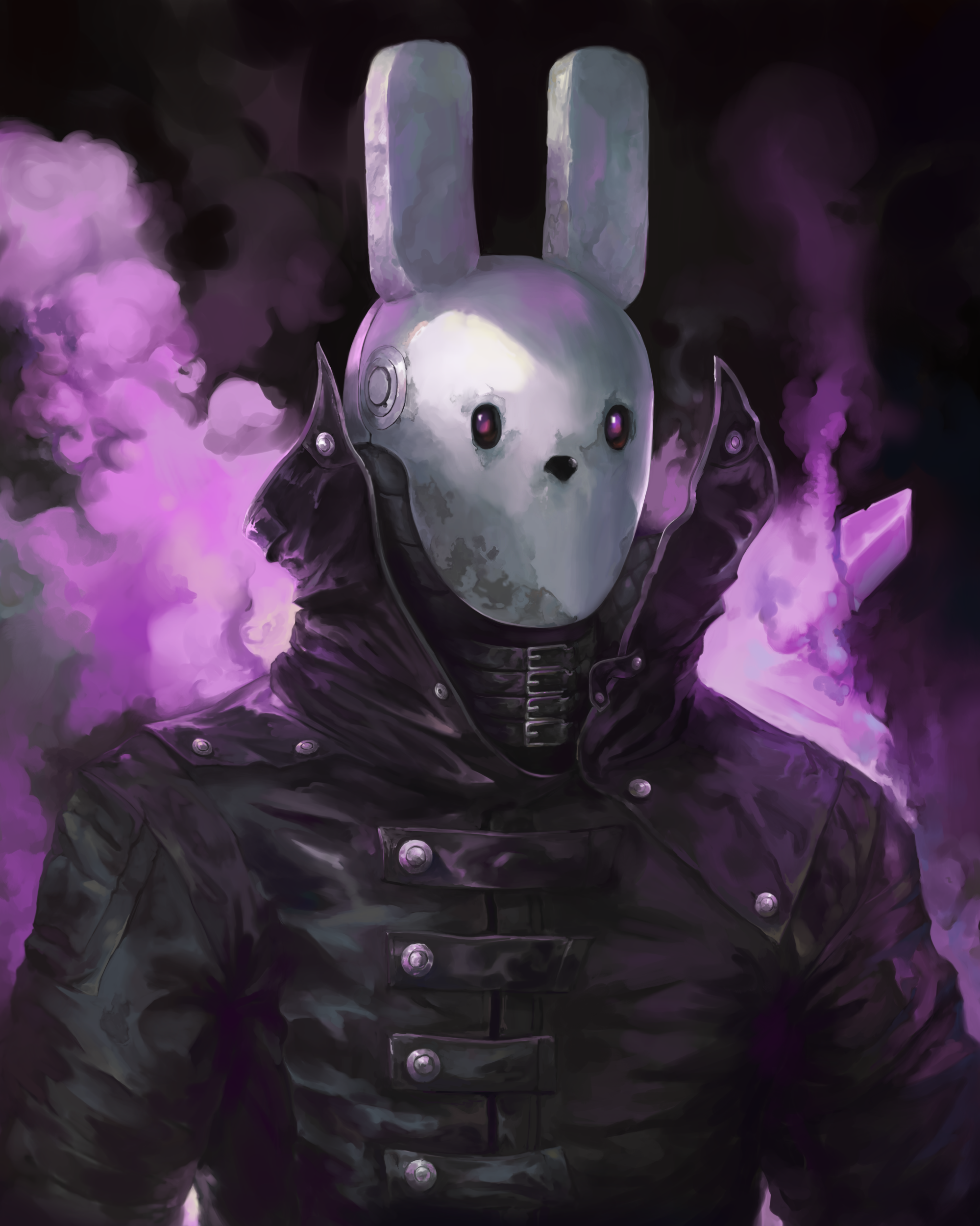 Bunny mask Starbound character