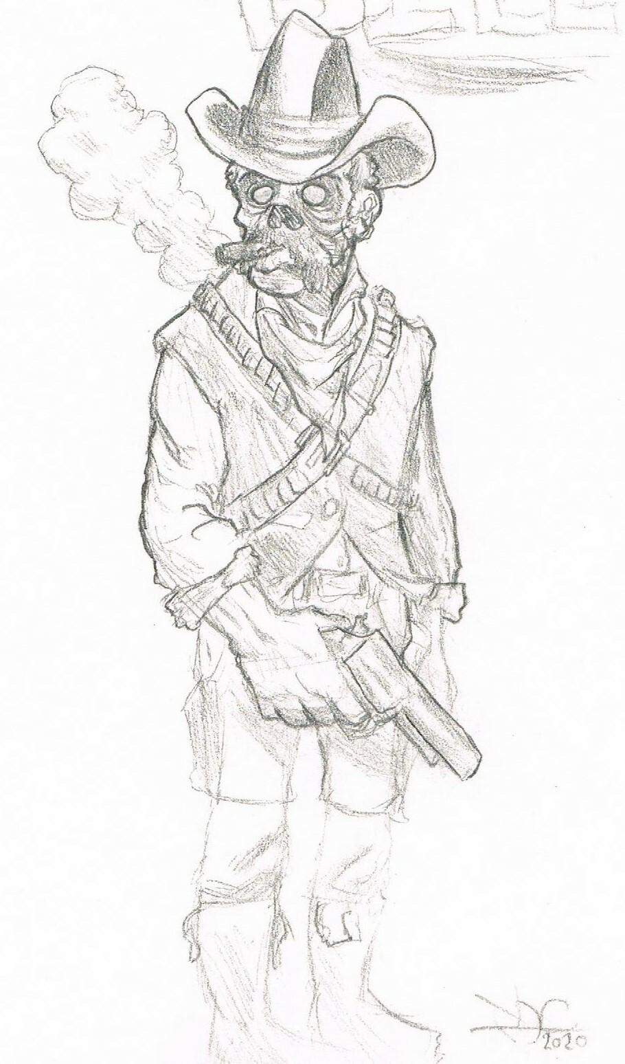 A sketch of a friend's character, Dapper Bill