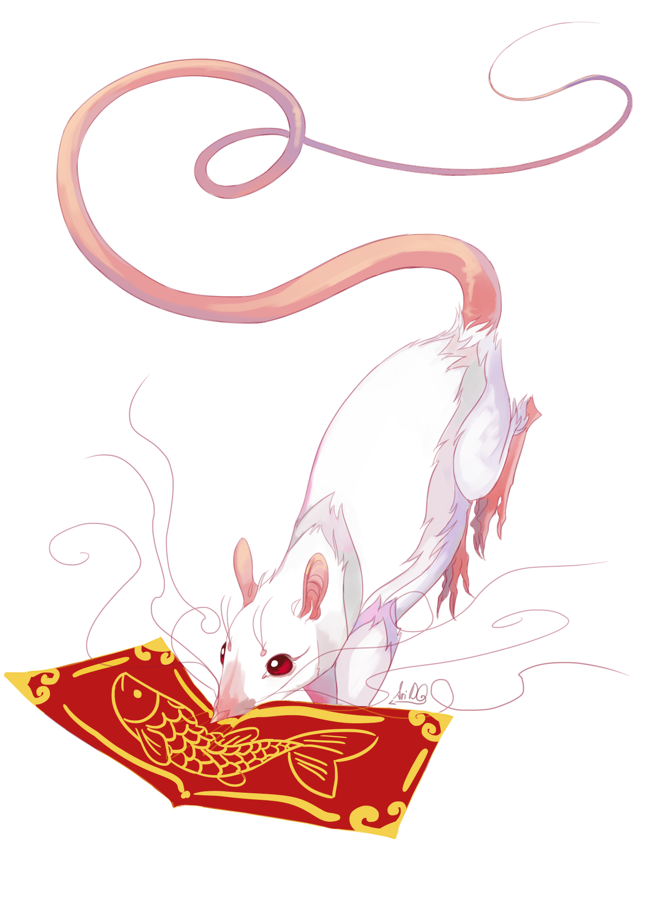 I did a simple but here it is, year of the rat!