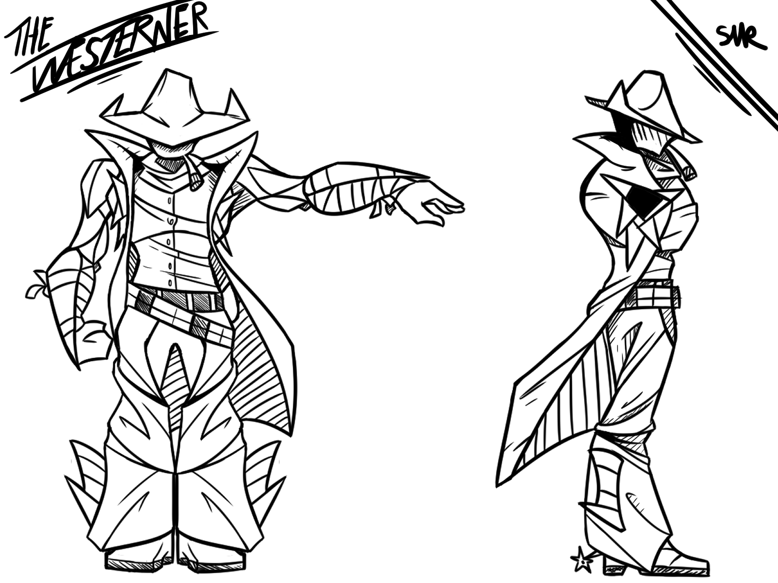 The Westerner - Character Design
