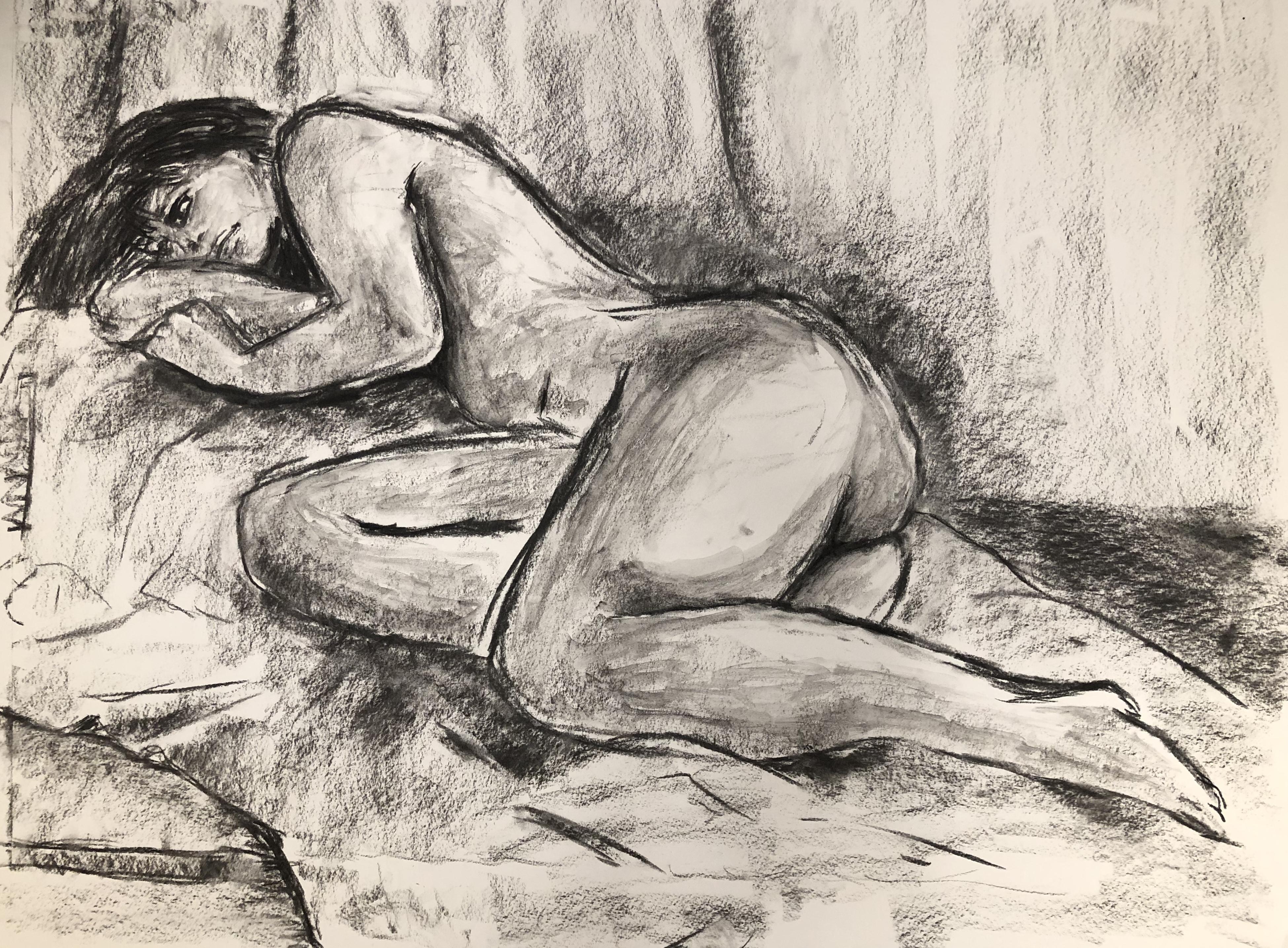 Woman sleeping cuz she tired zzzzzz