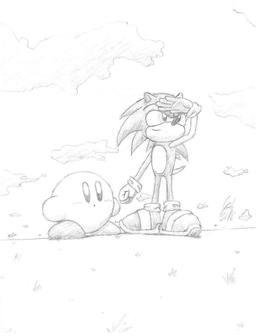Sonic and Kirby's view