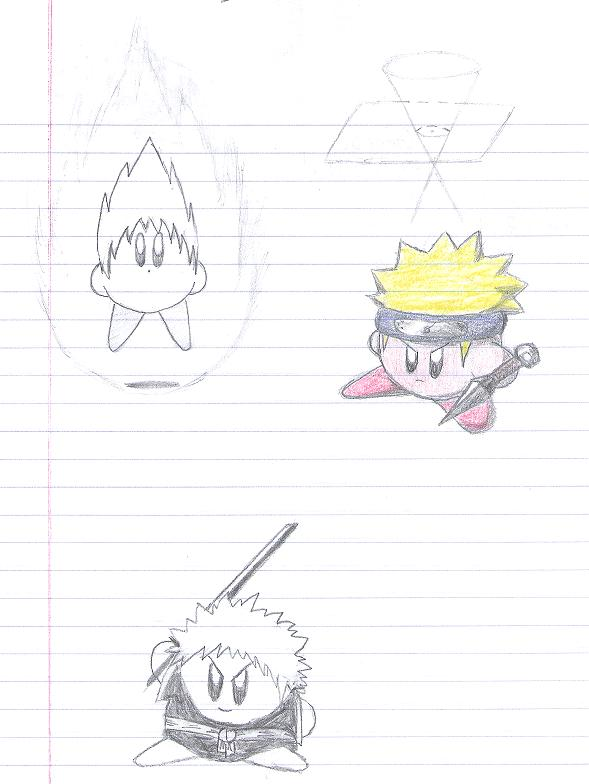 Anime Kirby Sketches