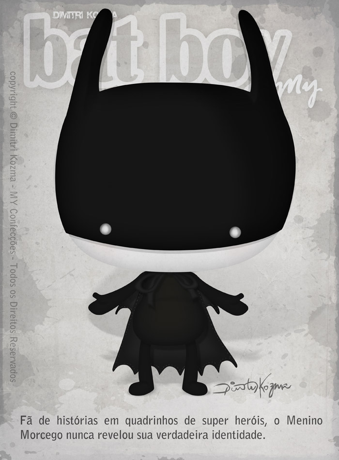 Toy Art Tag Card - Bat Boy