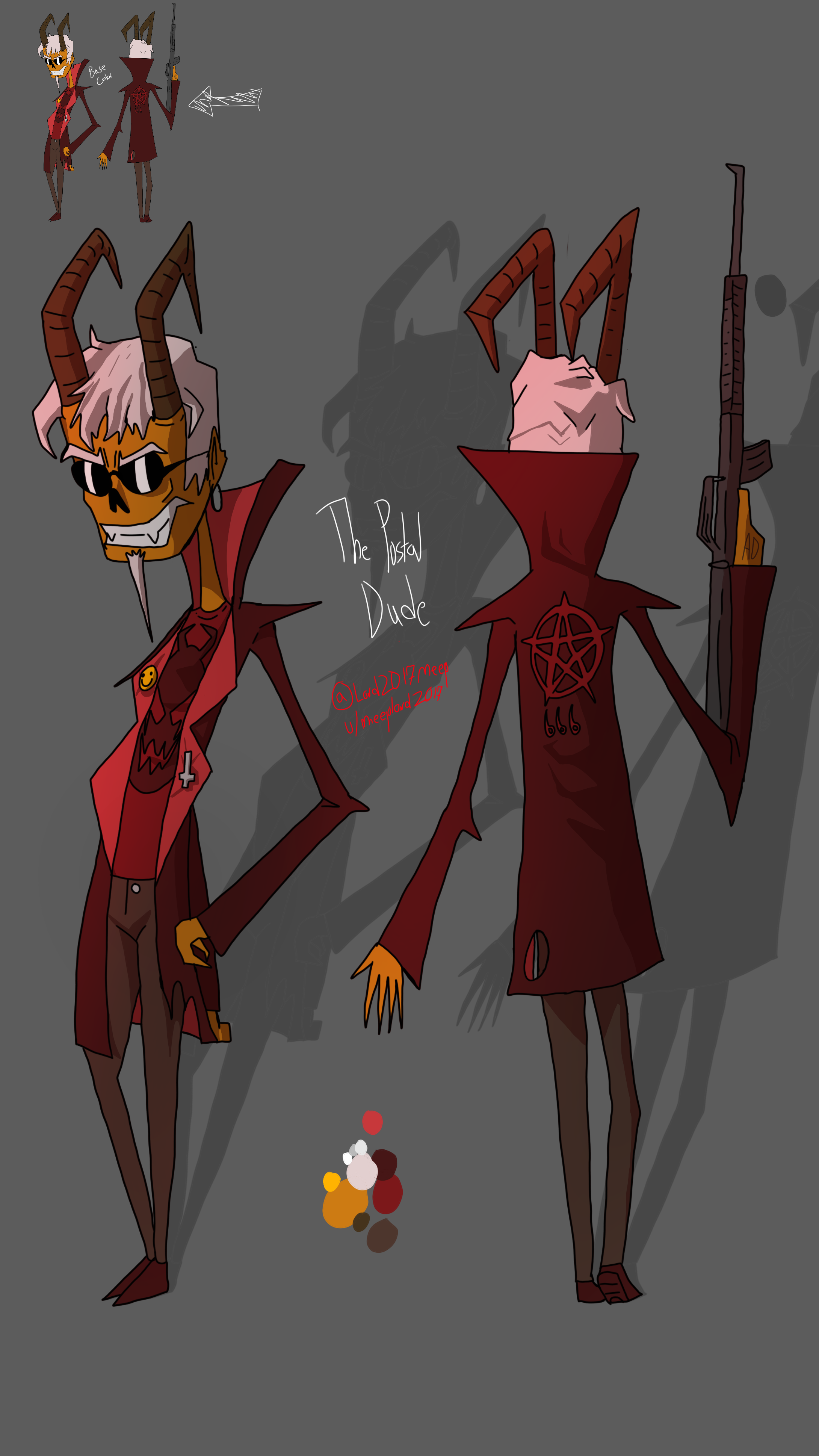 The Postal Dude As A Hazbin Demon By Meeplord2017 On Newgrounds