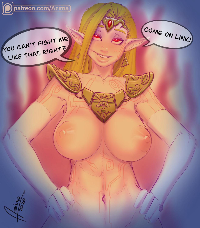 Zelda possessed by Ganon