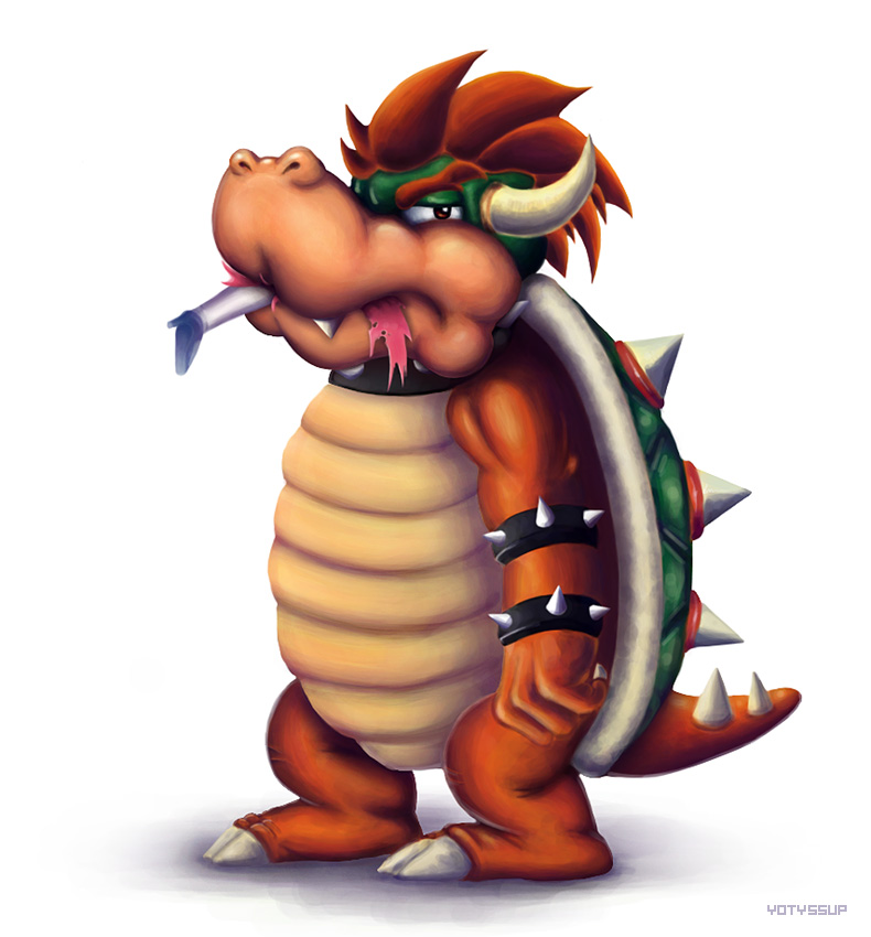 Bowser eats Peach