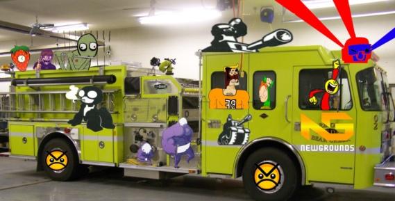 Newgrounds Firetruck