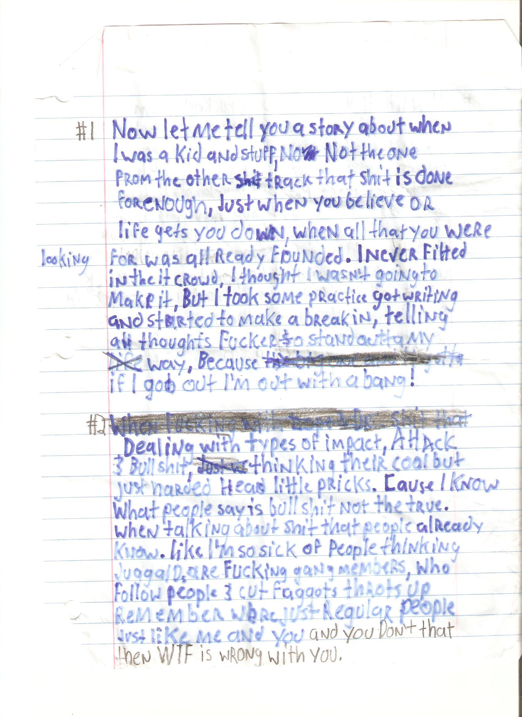 Knuklez Writing (Front)