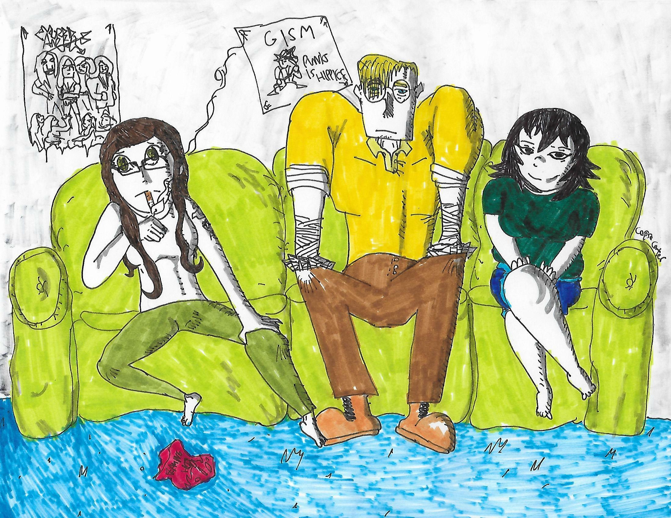 Arthur, Pyrrha, and Nancy (The Triad) by CorpseCarter on ...