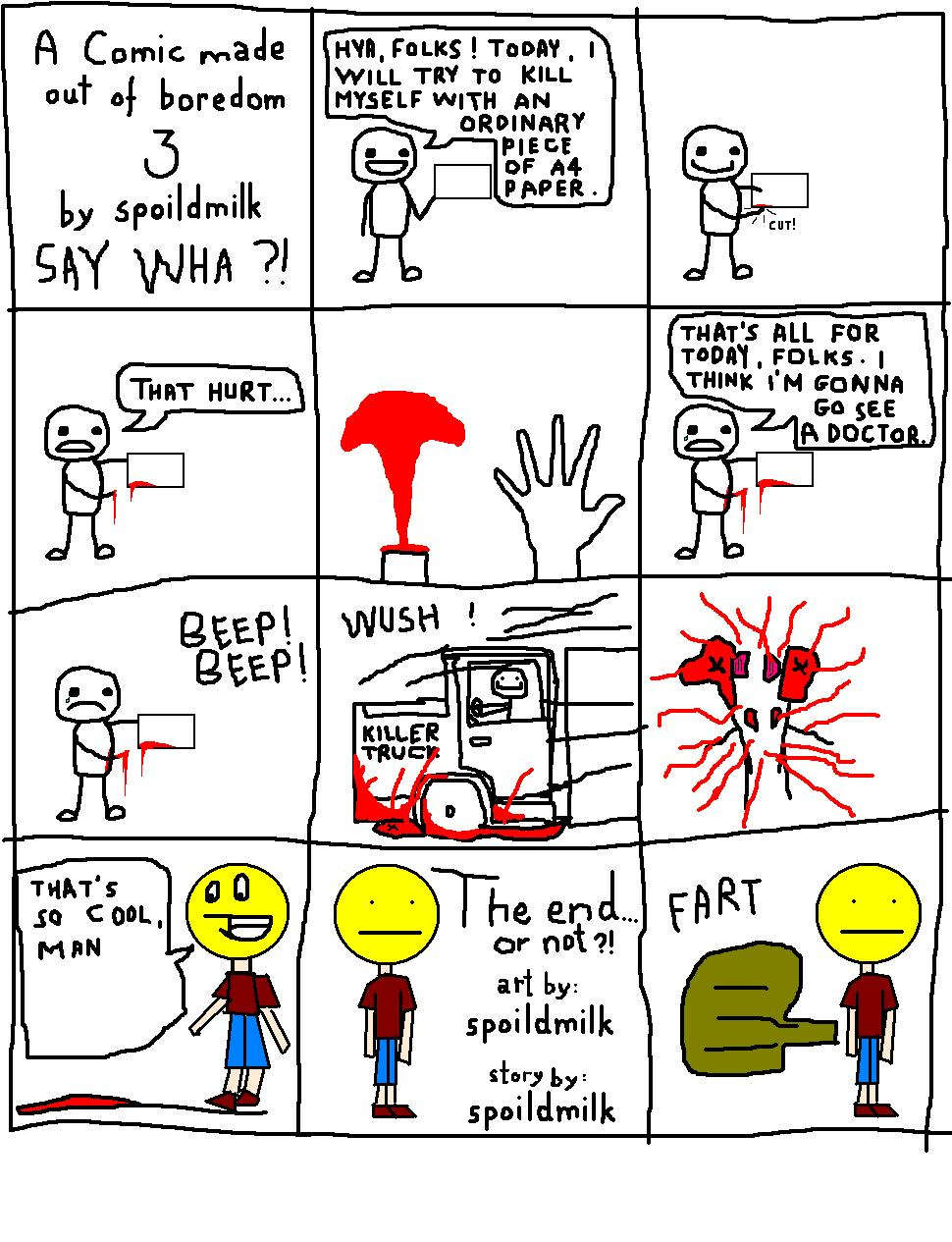A Comic made out of boredom