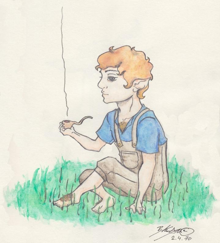 Smoking Hobbit