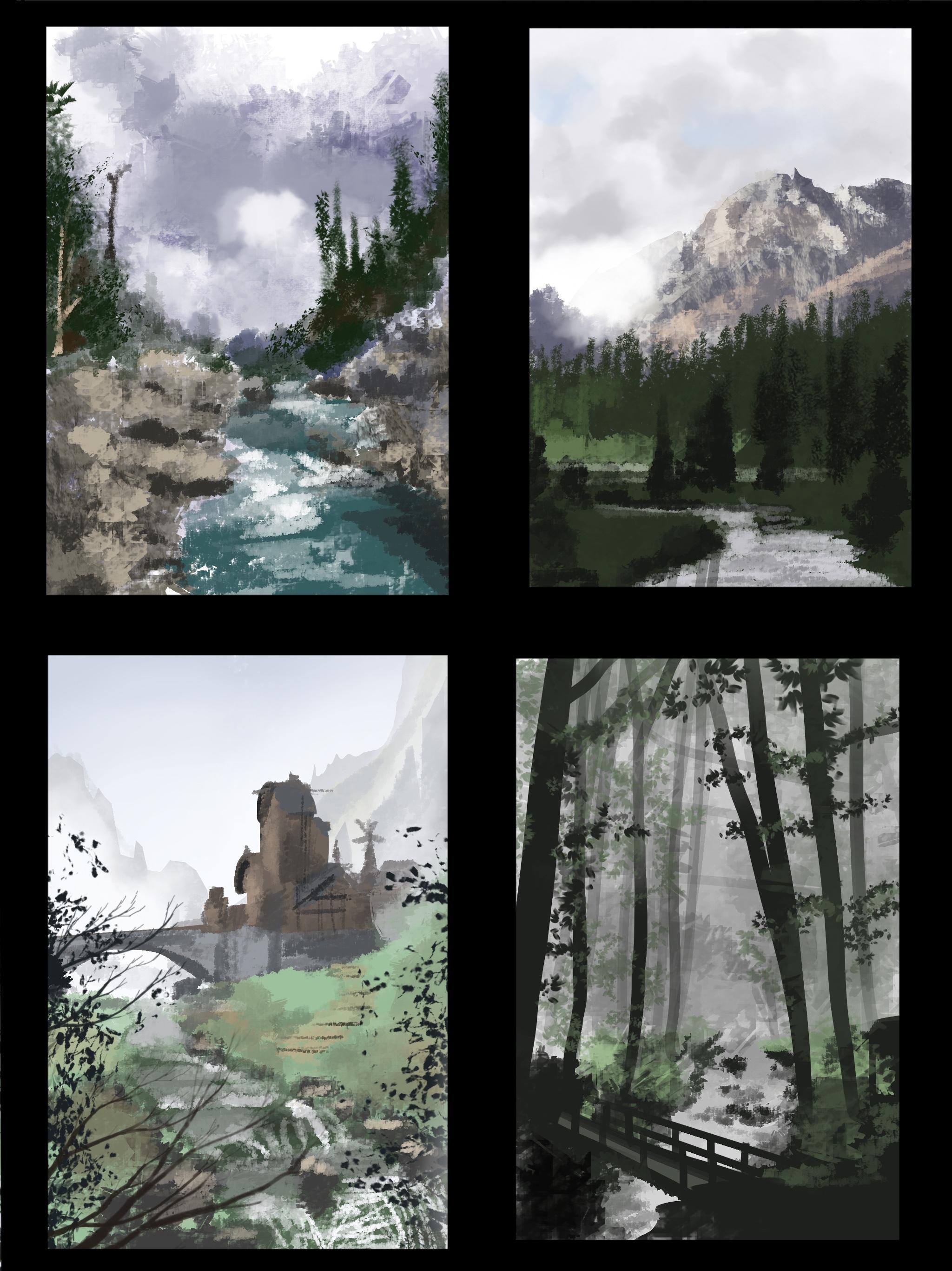 River Thumbnain Sketch