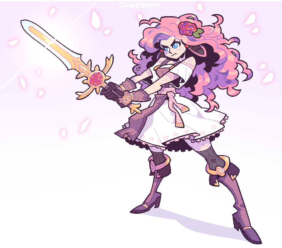COMMISSION: Pink Sword Woman