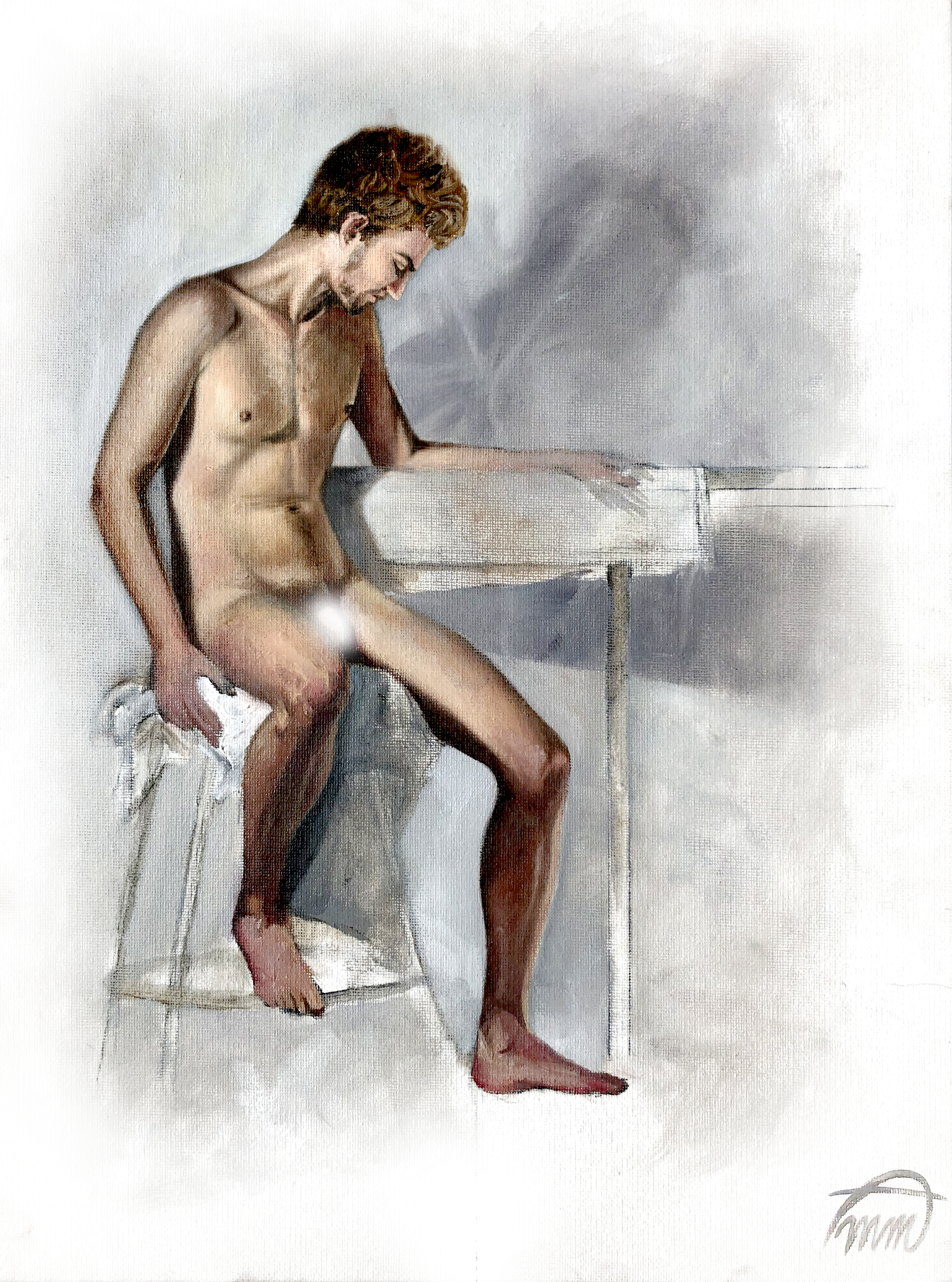 Figure Study - Model in Natural Color