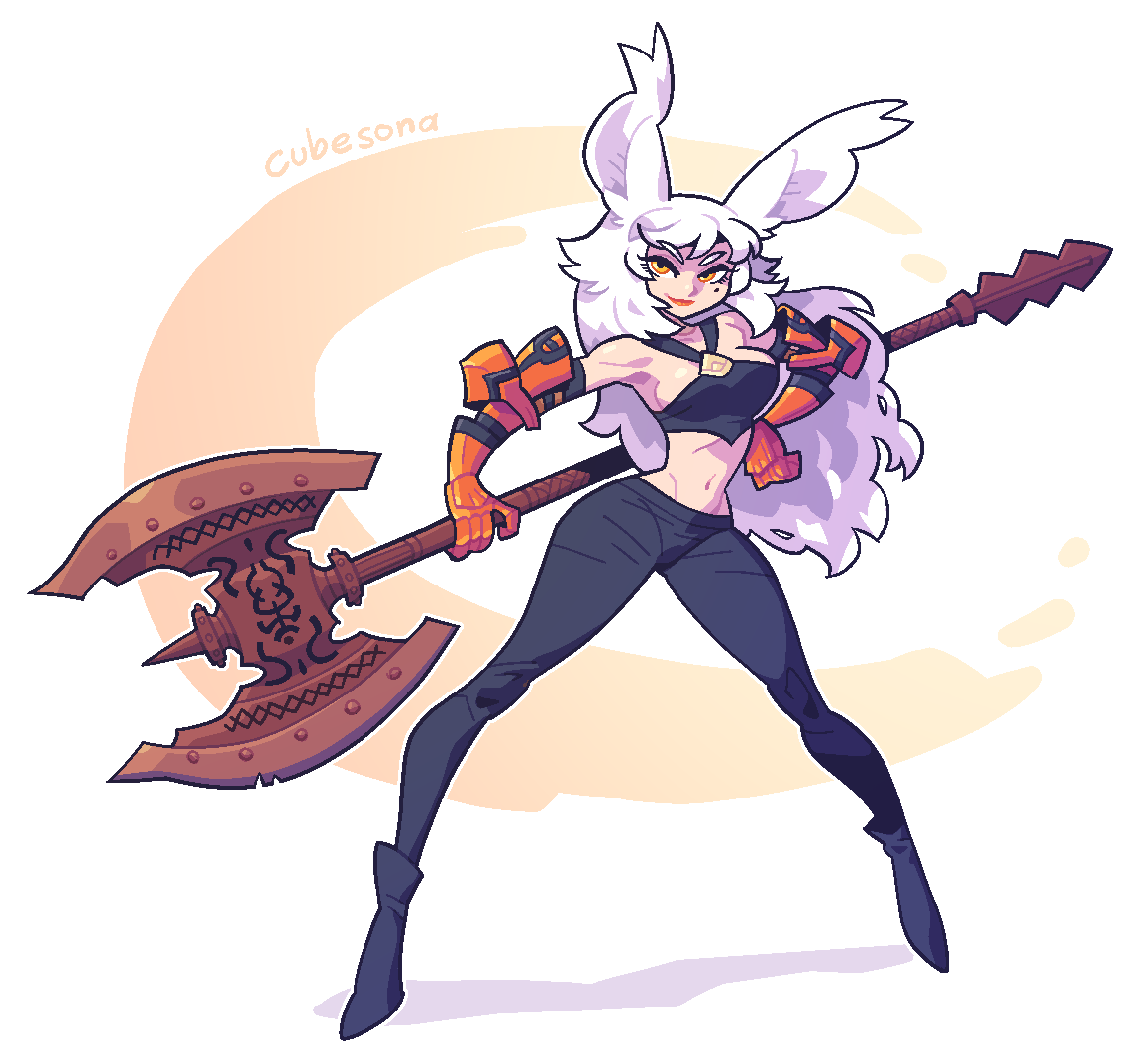 COMMISSION: rabbit woman