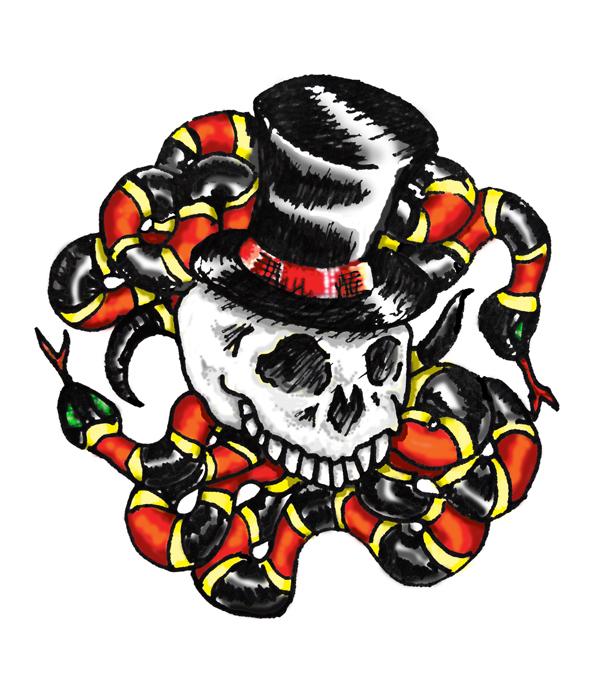 Skull Top Hat with a Grin