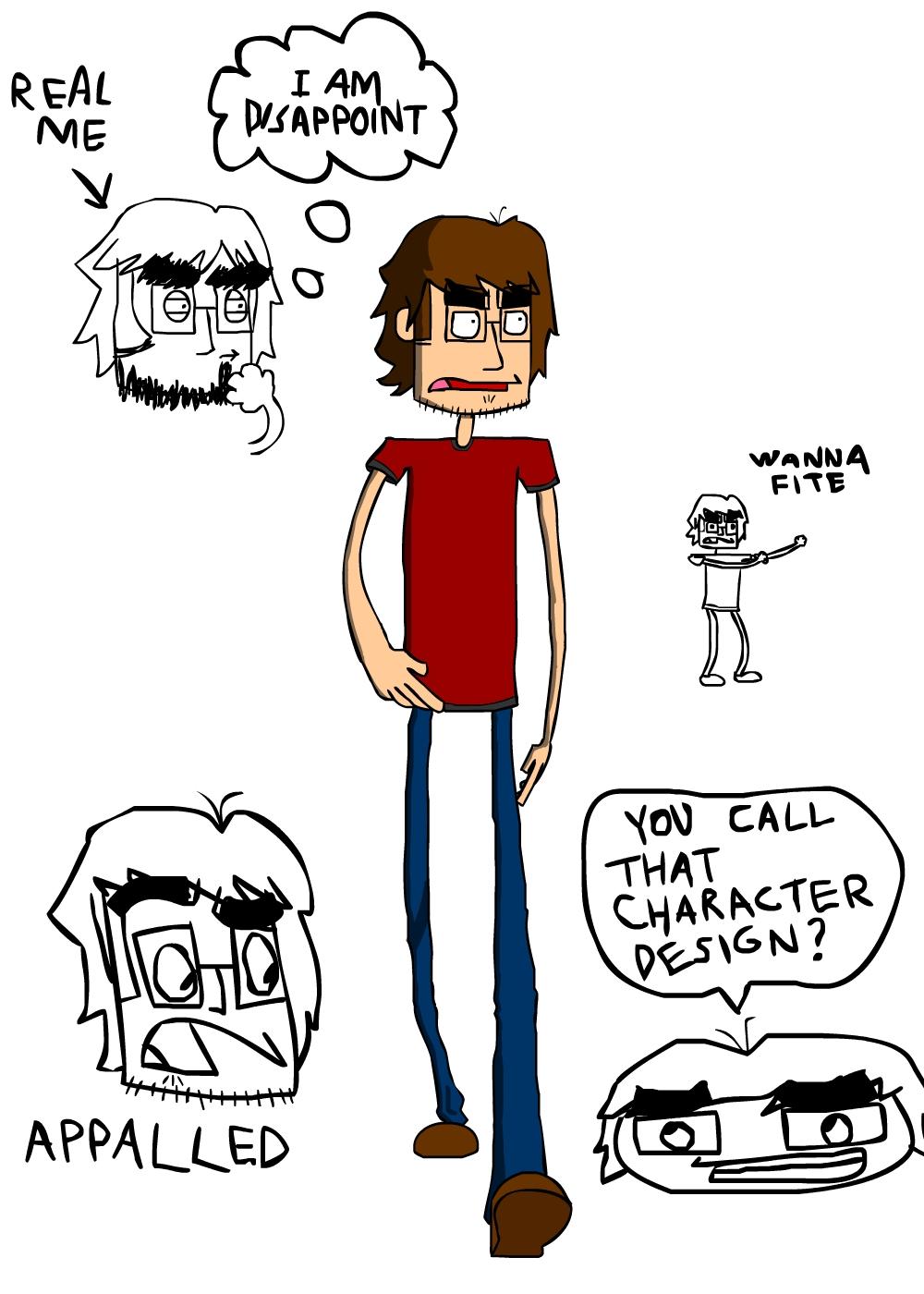 Self portrait + doodles