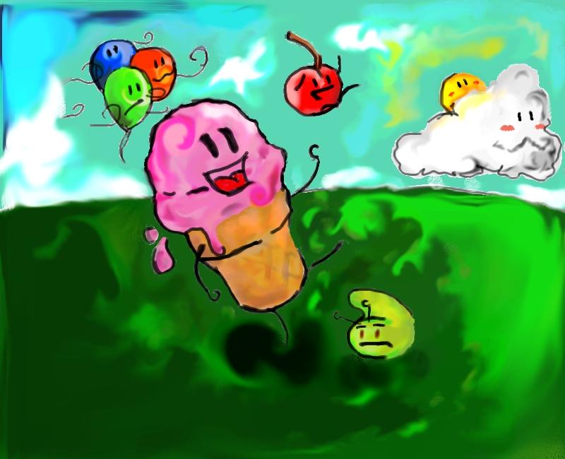 icecream and cherry