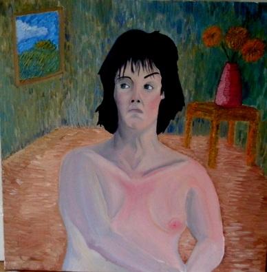 Sneering woman