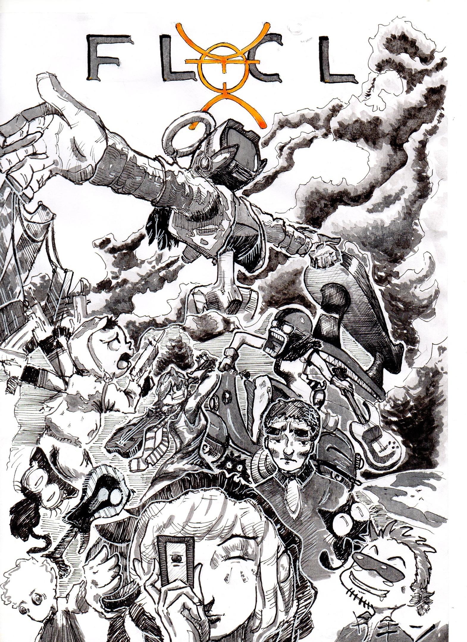 Fan art on the anime FLCL