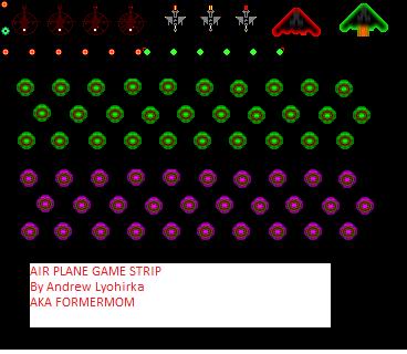 Air plane game sprite shet