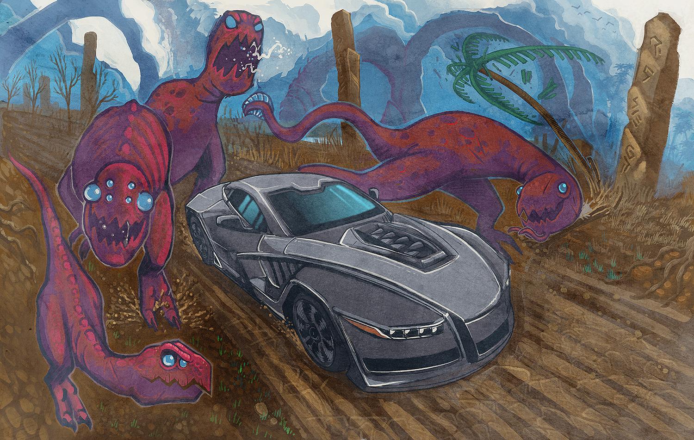 Slash Alien Dinosaurs