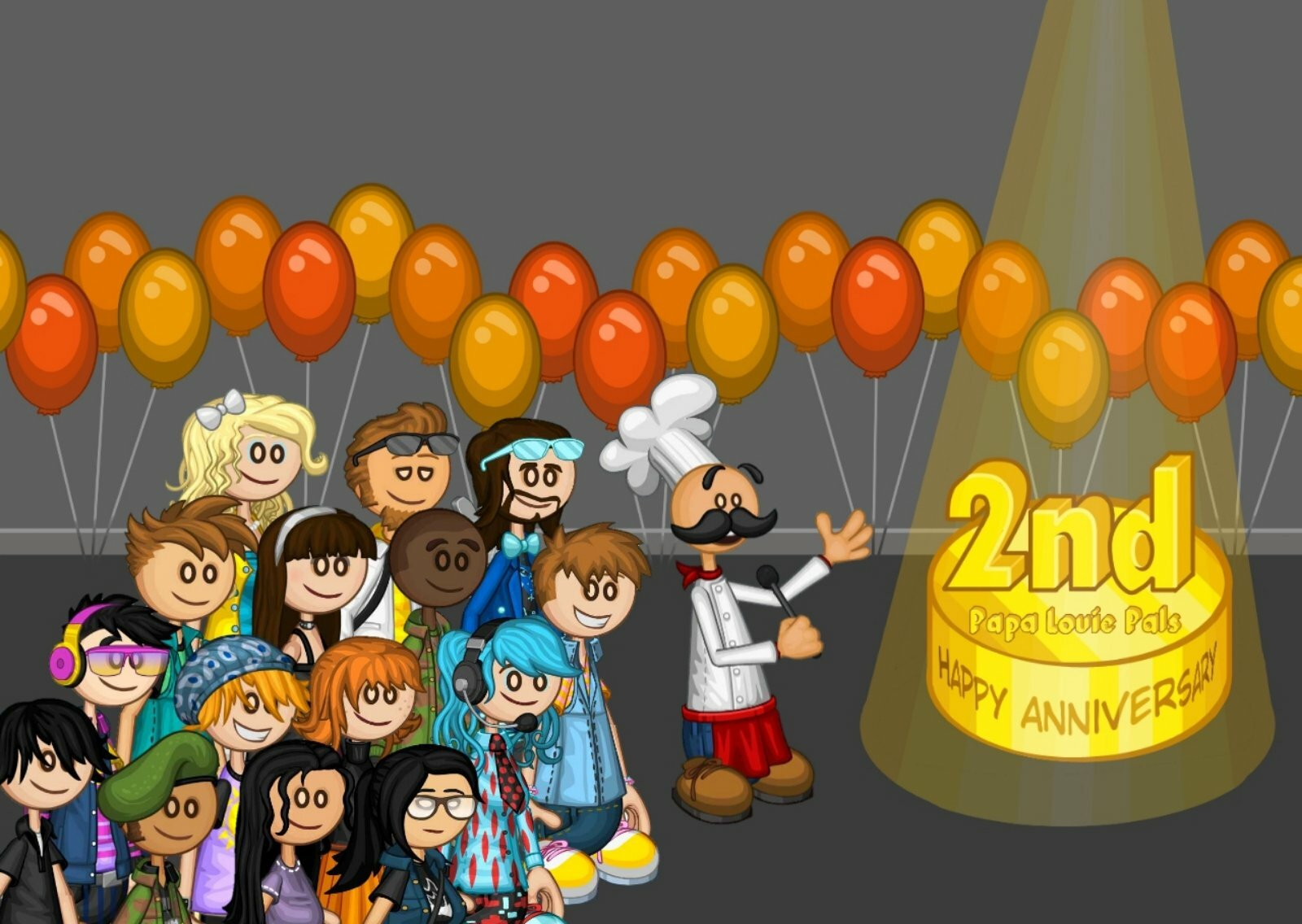 Happy 2nd Anniversary to Papa Louie Pals