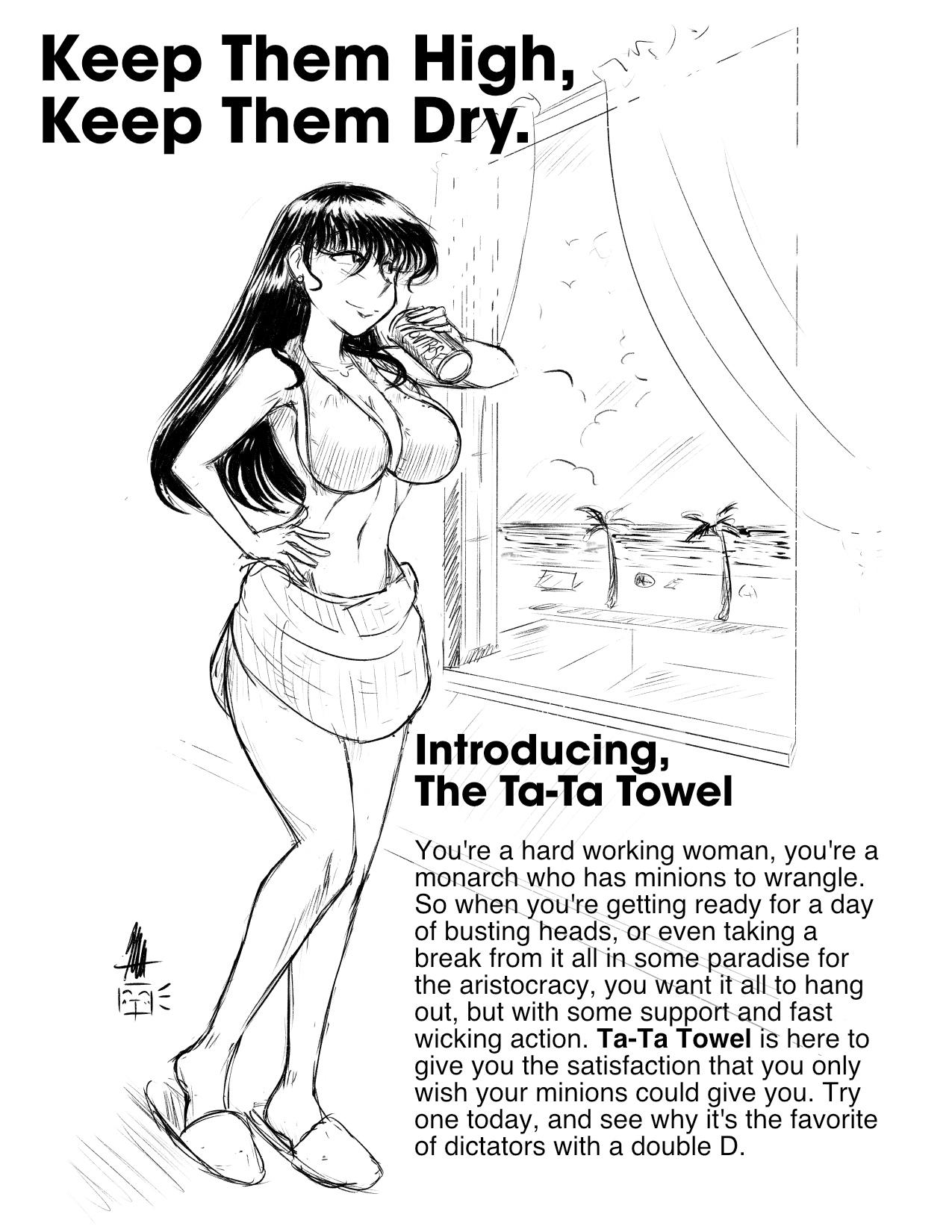 Parody Ta-Ta Towel Ad