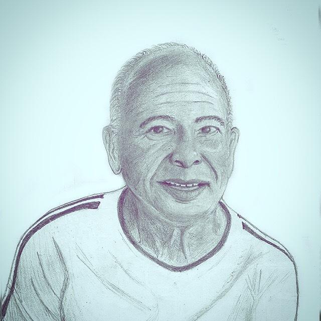 Graphite pencil portrait of my math teacher