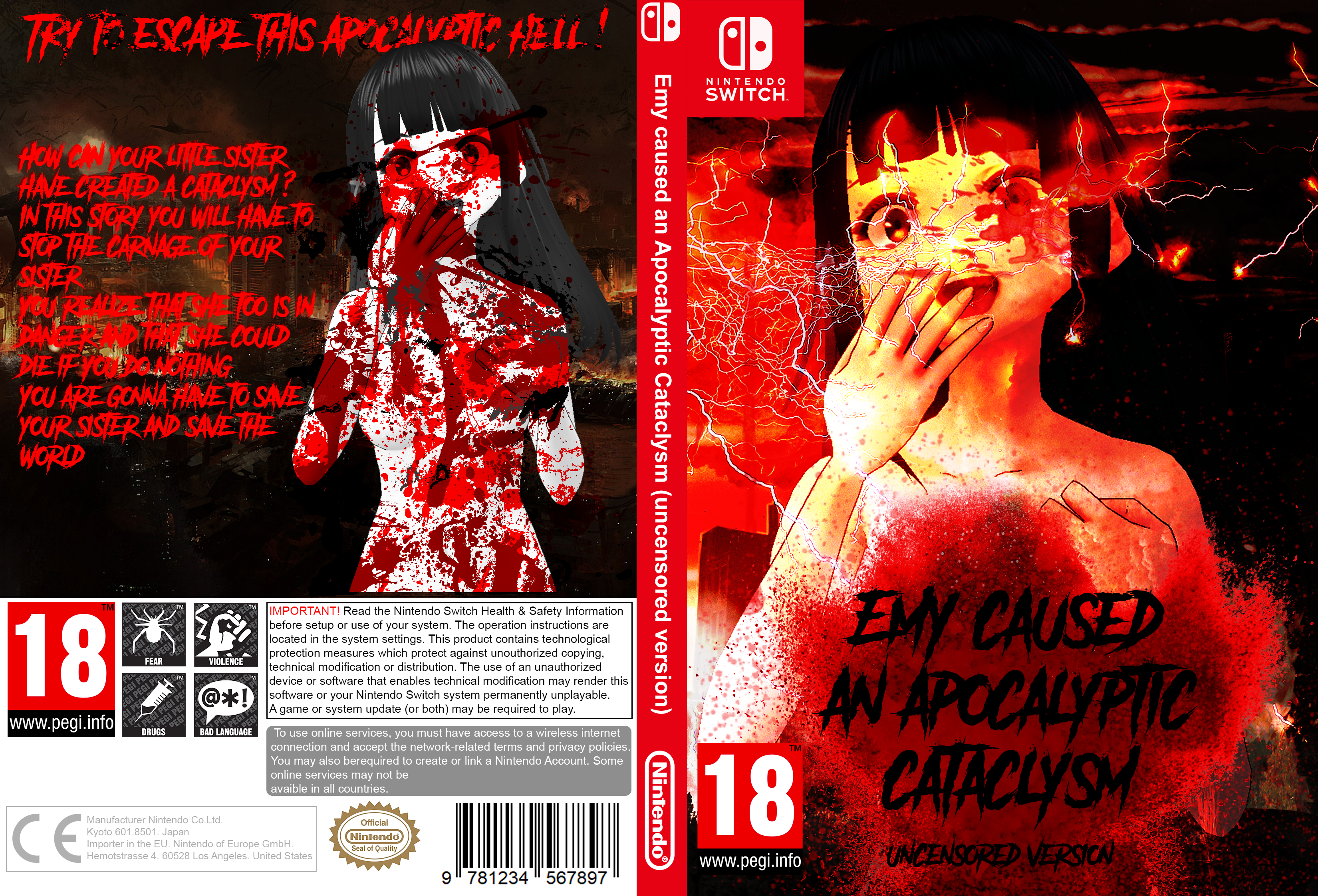 Emy caused an Apocalyptic Cataclysm (uncensed version) [False Switch Game]