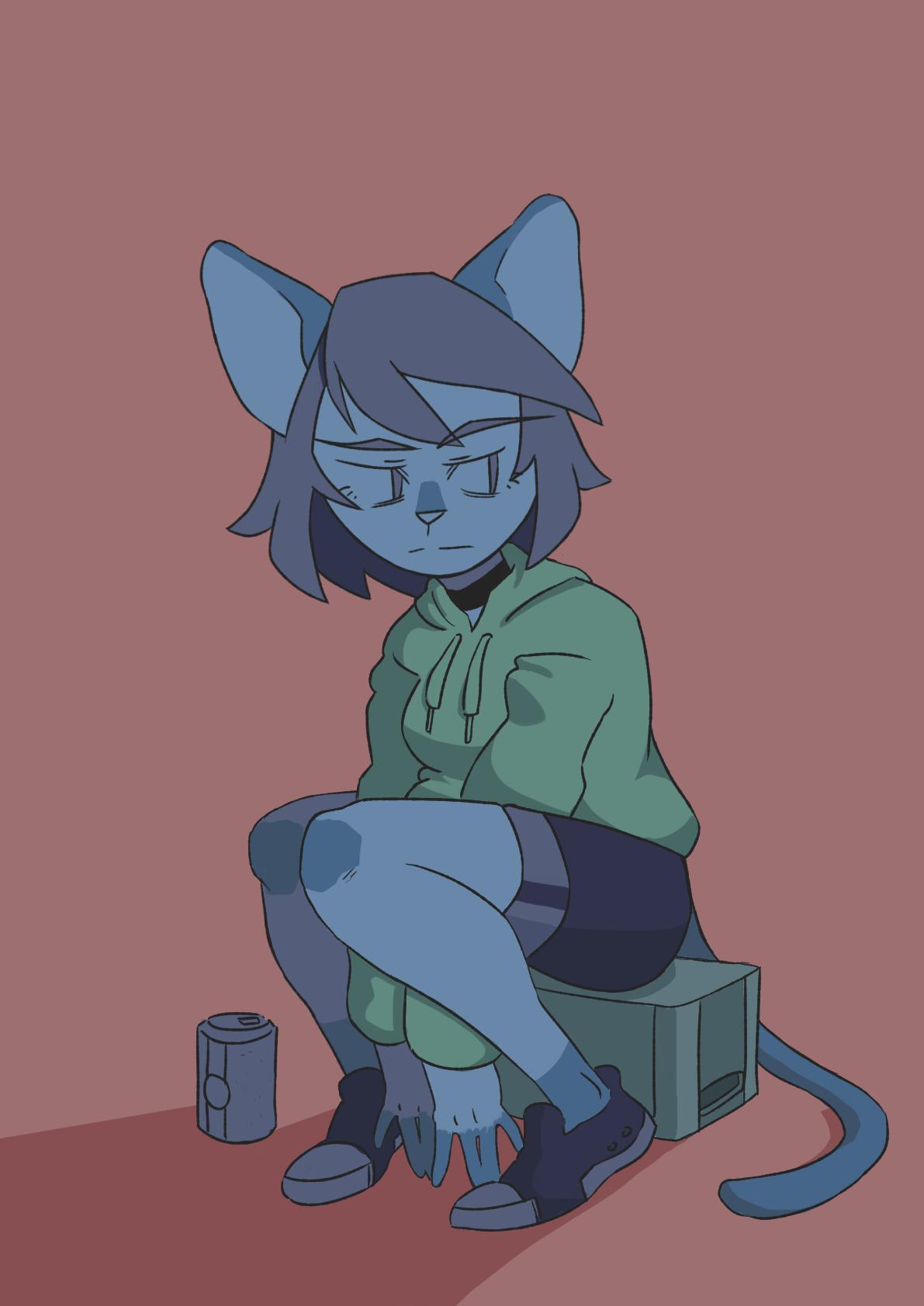 blue catgurlll