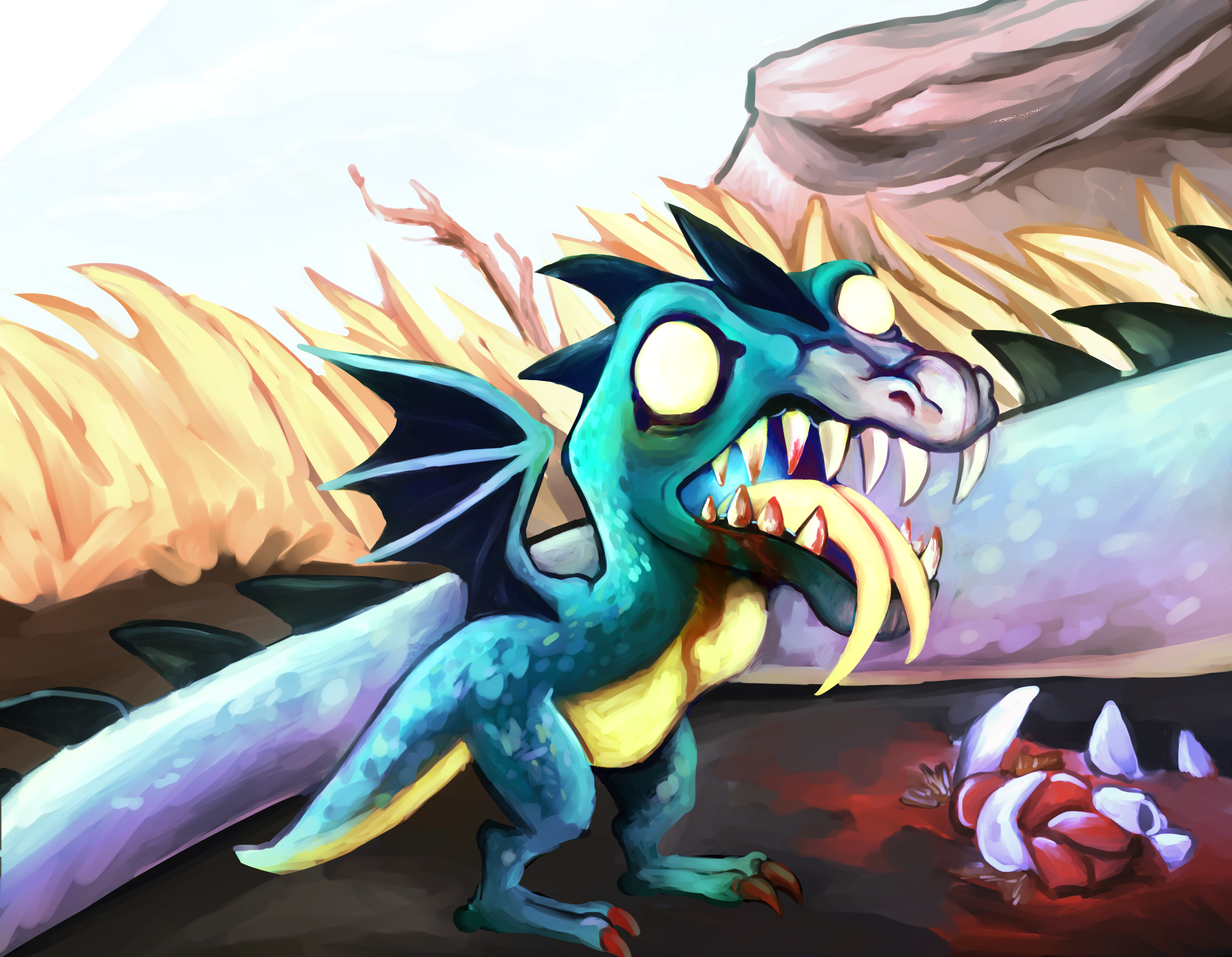Baby Dragon's Lunch